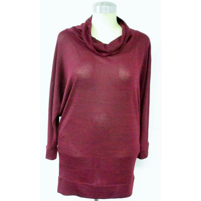 Cowl Neck Tunic Burgundy