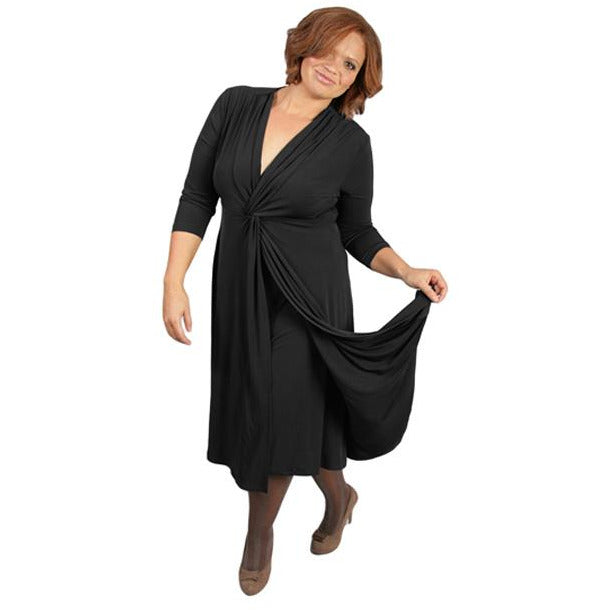 Captive8 House of Fashion Plus Size Jacki Dress Black