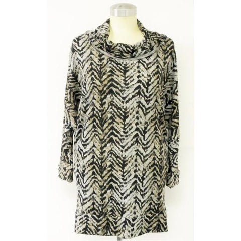 Cowl Neck Tunic Animal Print