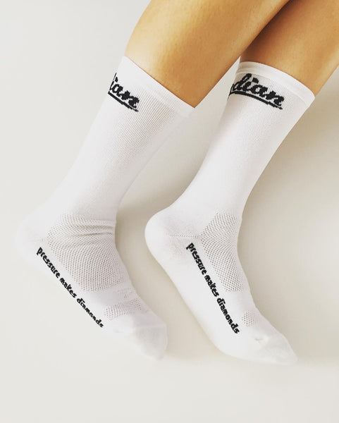 OBSYDIAN Fortitude White Socks