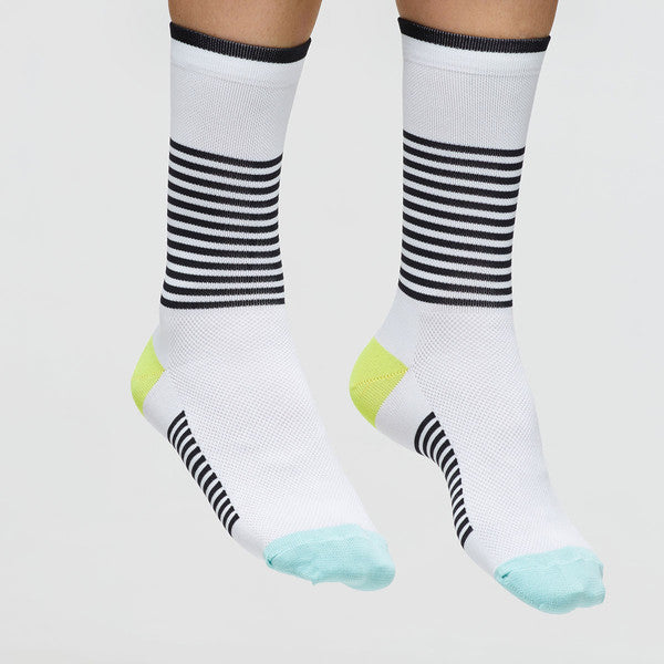 MAAP APPAREL Block Stripe Socks White/Black