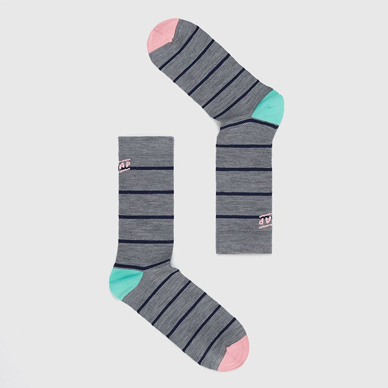 MAAP APPAREL Stripe Merino Socks Grey