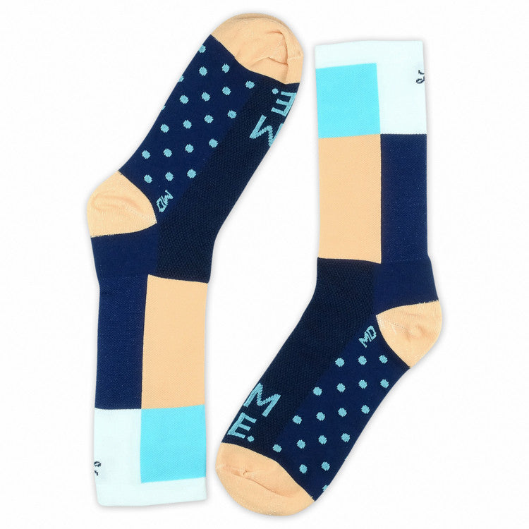 Lumiere Square Socks - Peach