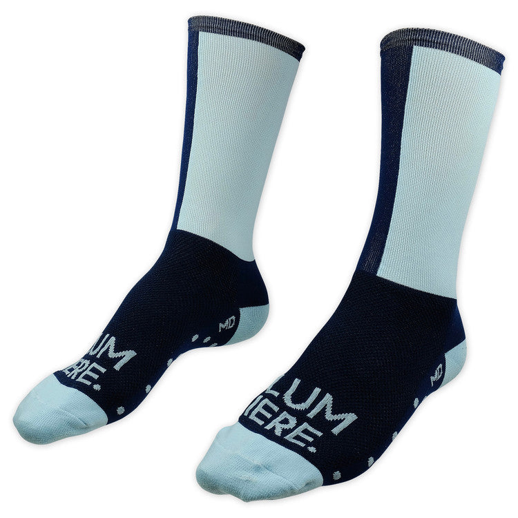 Lumiere Two Tone Socks - Navy / Sky