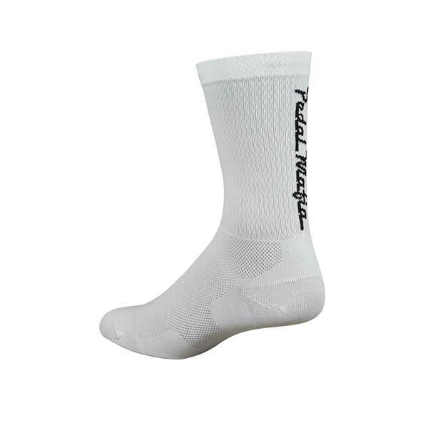 PEDAL MAFIA - Tech Mesh Socks WHITE & BLACK