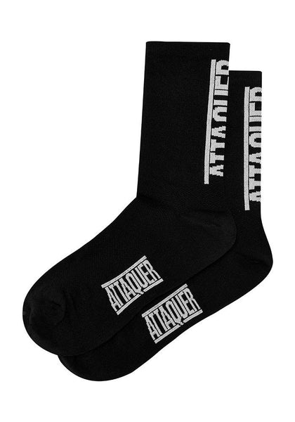 ATTAQUER Vertical Logo Socks - BLACK