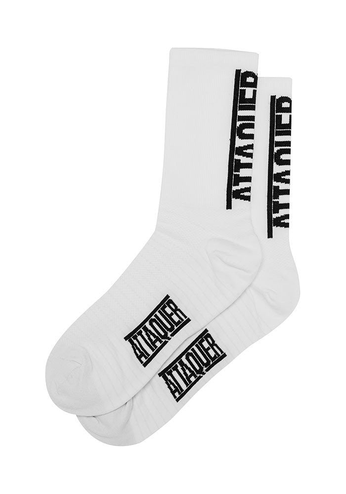 ATTAQUER Vertical Logo Socks - WHITE