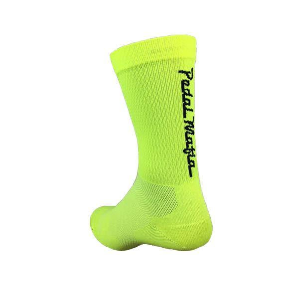 PEDAL MAFIA - Tech Mesh Socks FLURO YELLOW