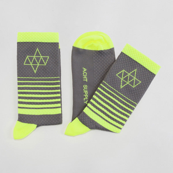ACHT SUPPLY - KOM GRADIENT SOCKS GREY/NEON