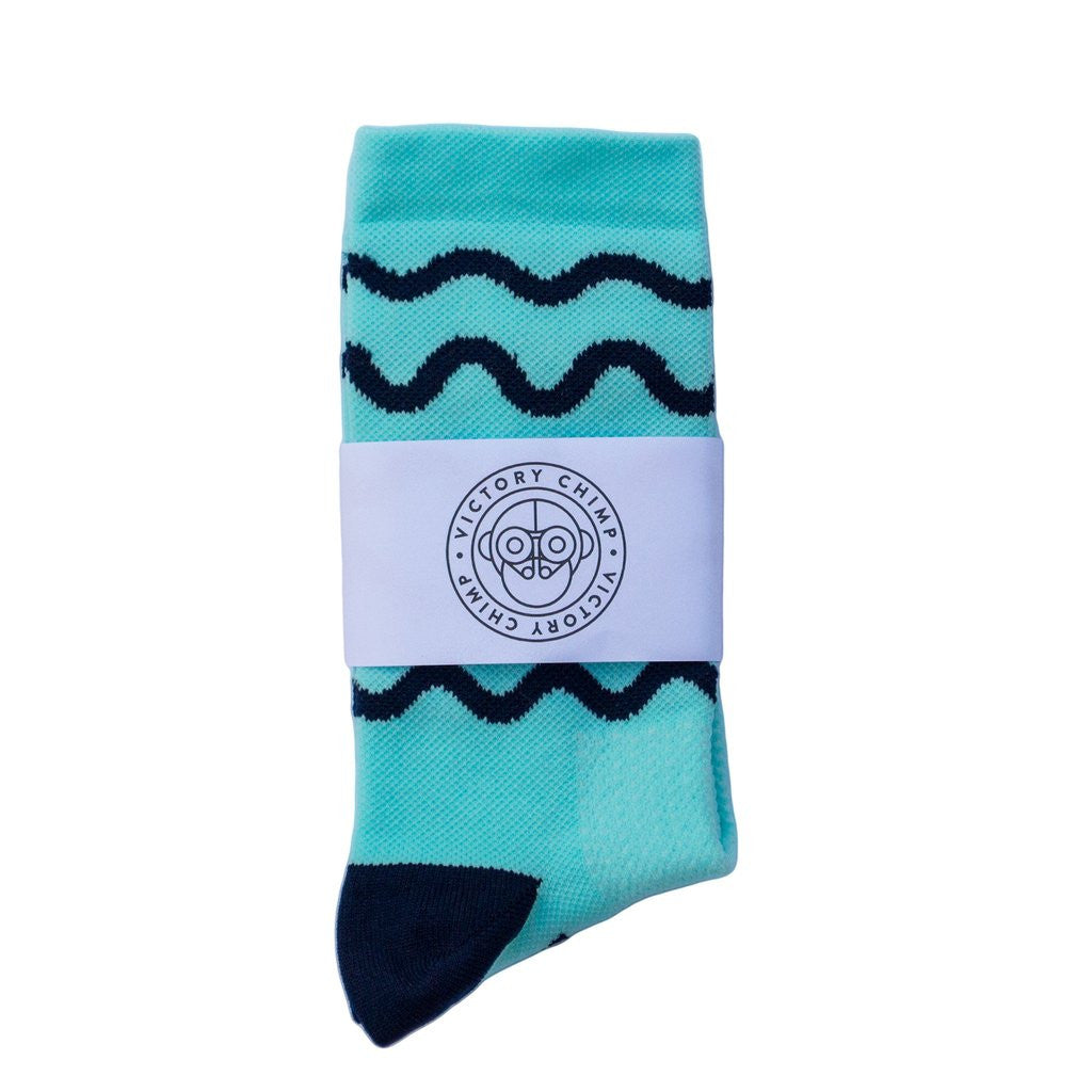 VICTORY CHIMP HILL REPEATS SOCKS - CELESTE