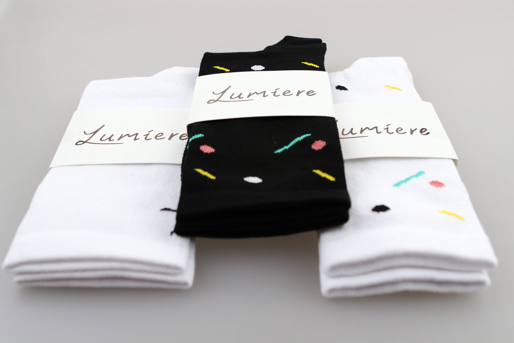 Lumiere Cupcake Socks - Black