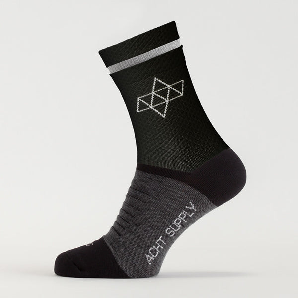 ACHT SUPPLY - REFLECTIVE WINTER SOCKS BLACK
