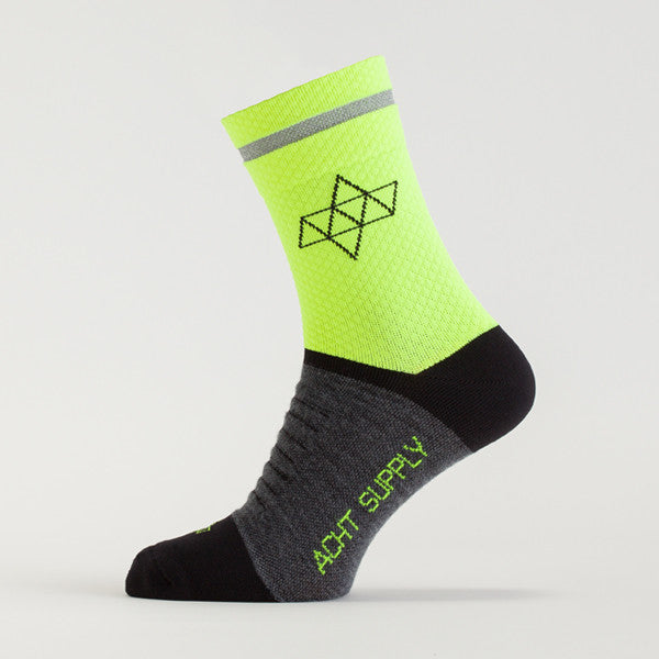 ACHT SUPPLY - REFLECTIVE WINTER SOCKS NEON YELLOW