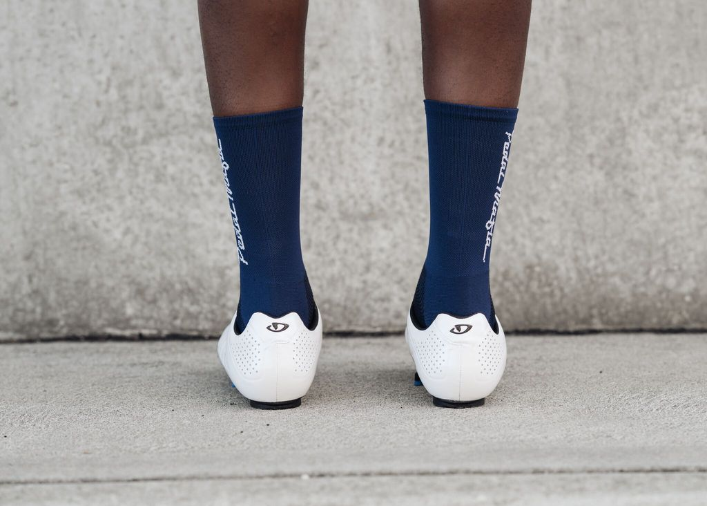 PEDAL MAFIA - Tech Socks NAVY & WHITE