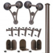 Bronze - Bronze Enterprise Double - Barn Door Hardware Kit