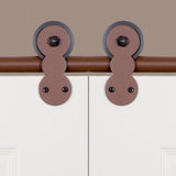 Rust - Barnum New Age Rust Double - Barn Door Hardware Kit