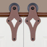 Rust - Diamond New Age Rust Double - Barn Door Hardware Kit