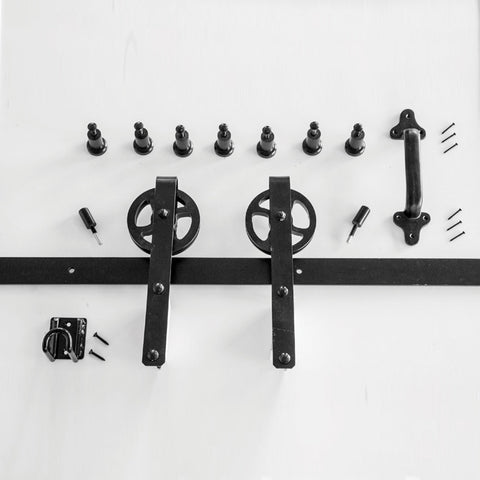 Heavy Duty Hook Strap Barn Door Hardware Kit