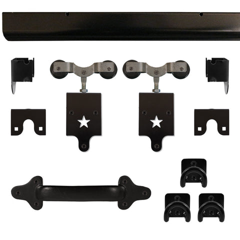 Heavy Duty Star Barn Door Hardware Kit