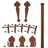 Rust - Lannister New Age Rust Single - Rolling Door Hardware Kit