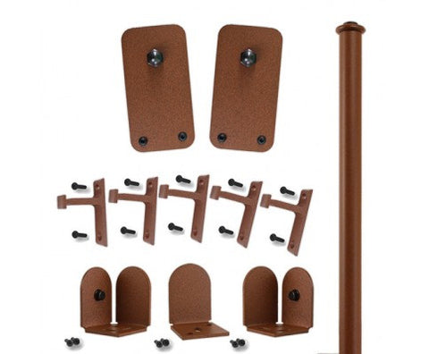 Rust - Plato New Age Rust Single - Rolling Door Hardware Kit
