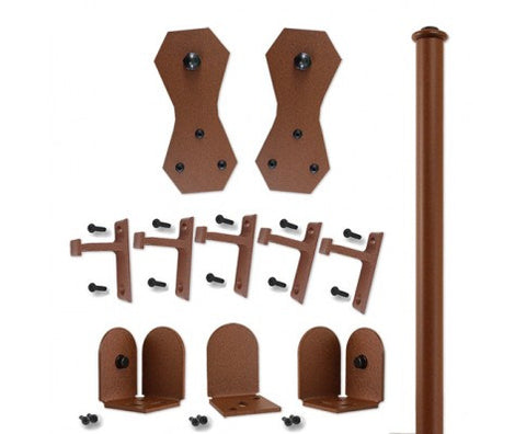 Rust - Windsor New Age Rust Single - Rolling Door Hardware Kit