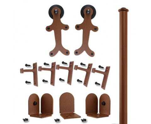 Rust - Bueller New Age Rust Single - Barn Door Hardware Kit