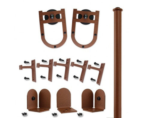 Rust - Lucky Charm New Age Rust Single - Rolling Door Hardware Kit