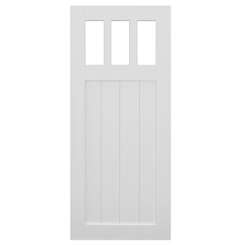 White Pre-Assembled Barn Door