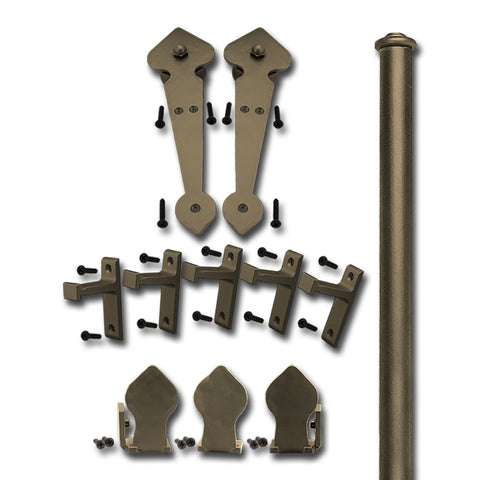 Bronze Lannister Single Rolling Door Kit  sc 1 st  Rolling Door Designs & Double Door Kits u2013 Rolling Door Designs pezcame.com