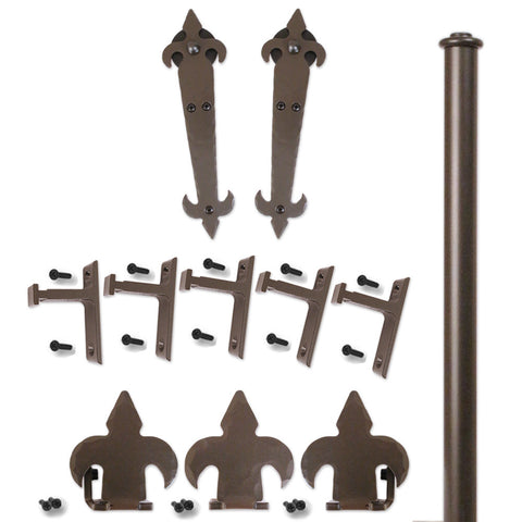 Bronze Hand-Forged Musketeer Double Rolling Door Kit