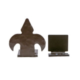 Fleur-de-Lis Center Barn Door Guides
