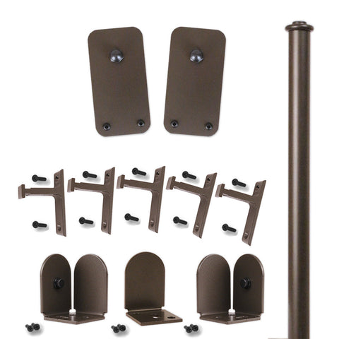 Bronze Plato Double Rolling Door Kit