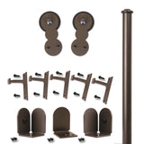 Bronze Barnum Double Rolling Door Kit