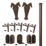 Bronze Durango Double Rolling Door Kit