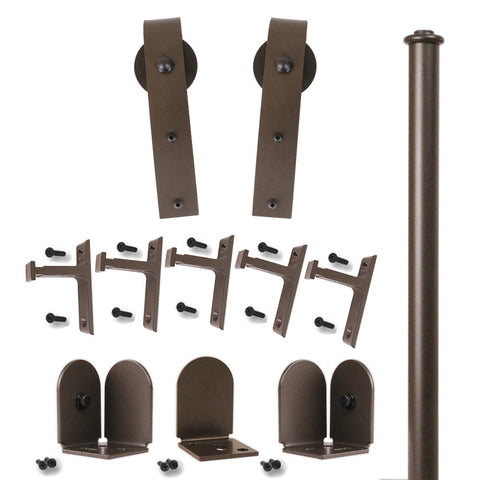 Bronze Scepter Single Rolling Door Kit