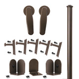 Bronze Earnhardt Single Rolling Door Kit