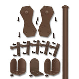 Bronze Windsor Single Rolling Door Kit