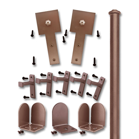 Bronze Shakespeare Double Rolling Door Kit