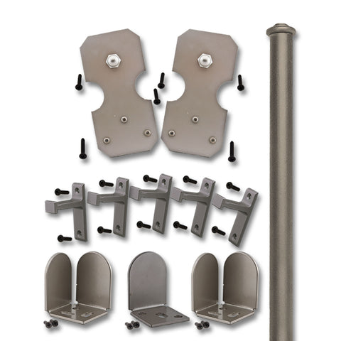 Satin Nickel Bowie Double Door Kit