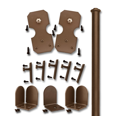 Bronze Bowie Double Rolling Door Kit