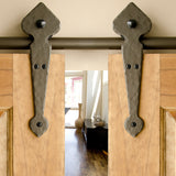 Bronze - Bronze Lannister Double - Barn Door Hardware Kit