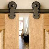 Bronze - Bronze Barnum Double - Barn Door Hardware Kit