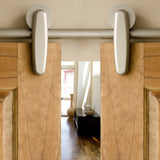 Satin - Earnhardt Satin Nickel Double - Barn Door Hardware Kit