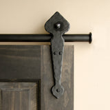 Black - Black Winston Churchill Double - Barn Door Hardware Kit