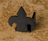 Fleur-de-Lis Barn Door Stop, Right, Black