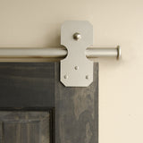 Satin - Bowie Satin Nickel Double - Rolling Door Hardware Kit