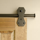 Bronze - Bronze Windsor Single - Barn Door Hardware Kit