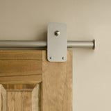 Satin - Plato Satin Nickel Single - Barn Door Hardware Kit
