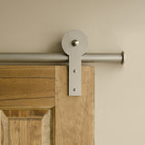 Satin - Homer Satin Nickel Single - Barn Door Hardware Kit